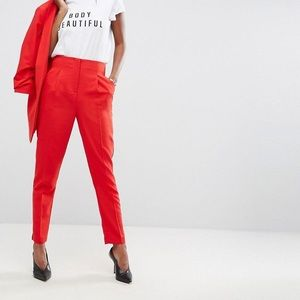 ASOS red pants size 0